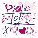 Set the valentine's day. Love heart kiss