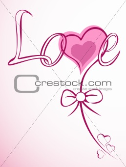 Vector Illustration of love flower heart