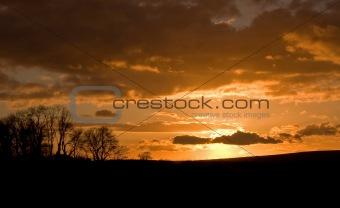 Cuckmere Valley sunset