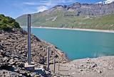 Dam water level measurement