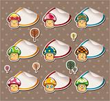 Cartoon mushroom Stickers ,Label