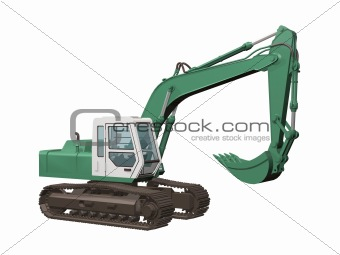 earth mover 3D illustration