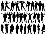Male model silhouettes