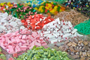 Assorted multicolored and multishaped candies