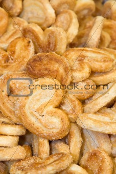 A scattering of sweet tasty cookies