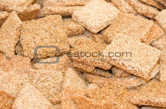 A scattering of sweet tasty sesame cookies