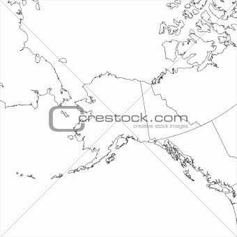 Blank Alaska Map