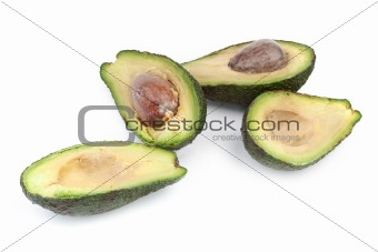 avocado fruit on white background