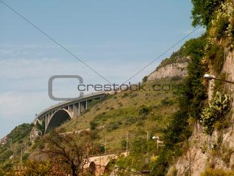 bridge over a mountain road