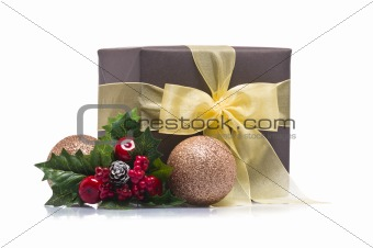 Present decorated with Christmas decoration