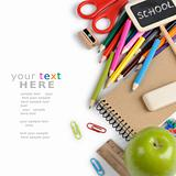School stationery with copyspace