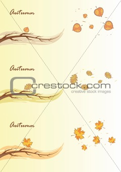 Autumn branches, vector illustration