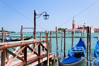 pier on San Marco Canal, Venice, Italy