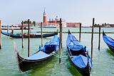 gondolas on San Marco Canal, Venice