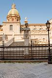 Piazza Pretoria and statues of fountain Pretoria in Palermo