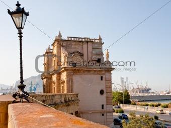 Porta Felice - baroque triumphal gateway in old port, Palermo, Sicily