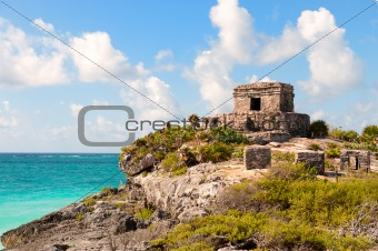 Maya ruins at Tulum, Mexico.