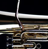 Gold Tuba Euphonium Isolated On Black