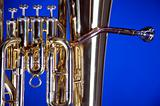 Bass Tuba Euphonium on Blue
