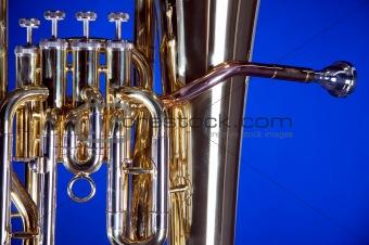 Bass Tuba Euphonium on Blue