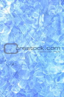 abstract ice cube in blue light background