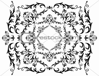 Abstract black ornament