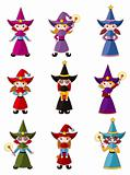 cartoon Wizard  icon set