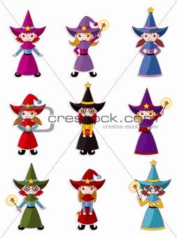 cartoon Wizard  icon set