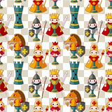cartoon chess seamless pattern