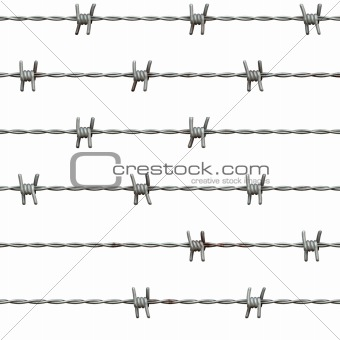 Barbed wire, isolated on white background