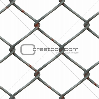 Rusty Chainlink, isolated on white background
