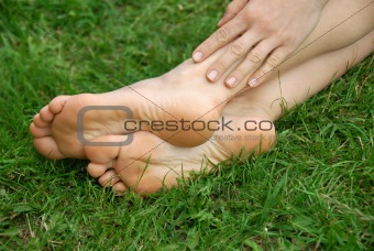Woman feet