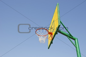 backboard on sky background