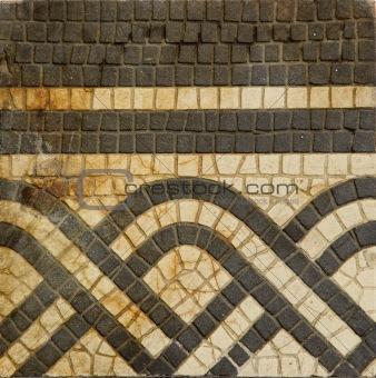 grunge  old floor ornamental tile
