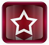 star icon dark red, isolated on white background