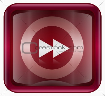 Forward icon dark red, isolated on white background