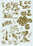 hand drawn money symbols