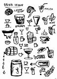 hand drawn drink symbols