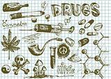 hand drawn drugs symbols 