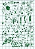 eco  bio and nature symbols