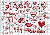 love and valentine symbols