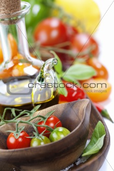 Fresh tomatoes and olive oil