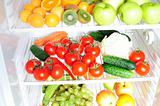 Fruit and vegetables in the fridge