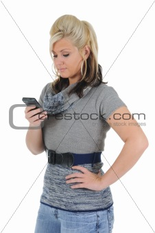 Attractive Woman Using a Smart Phone