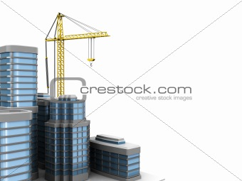 city construction background
