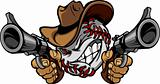 Baseball Shootout Cartoon Cowboy