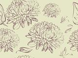 Chrysanthemum seamless background