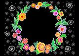 Wreath from abstract flowers