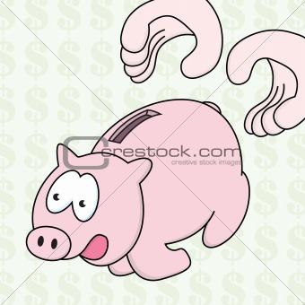 Runaway Piggy Bank