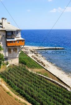 Monastery with garden